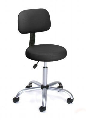 Belrose Ophthalmic Stool with back, color black